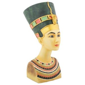 Nefertiti Egyptian Queen Medium Bust Majestic Dragonfly Home Decor, Artwork, Unique Decorations