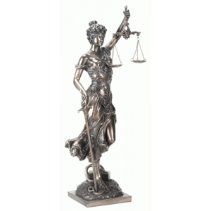 Lady Justice with Scales Bronze Statue Majestic Dragonfly Home Decor, Artwork, Unique Decorations