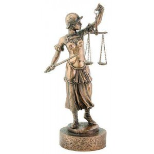 Lady Justice with Scales Warrior Bronze Statue Majestic Dragonfly Home Decor, Artwork, Unique Decorations