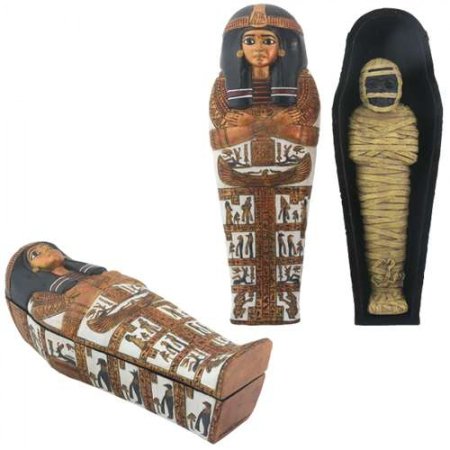 Uncategorized Pictures Of Sarcophagus sarcophagus of henettawy box with removable mummy 7 inches at majestic dragonfly home decor artwork unique