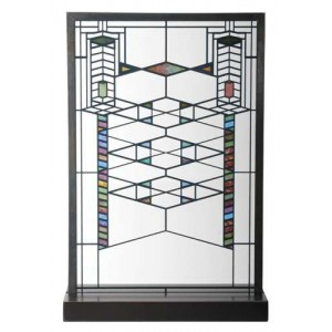 Frank Lloyd Wright Robie Art Stained Glass Panel Majestic Dragonfly Home Decor, Artwork, Unique Decorations