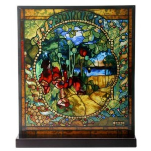 Tiffany Summer Art Stained Glass Window Reproduction
