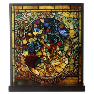 Tiffany Autumn Art Stained Glass Window Reproduction