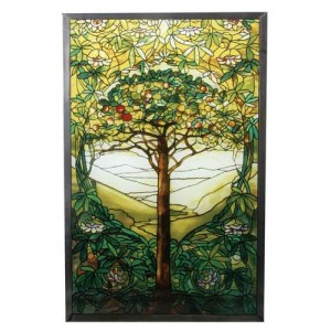 Tiffany Tree of Life Art Glass Window Reproduction
