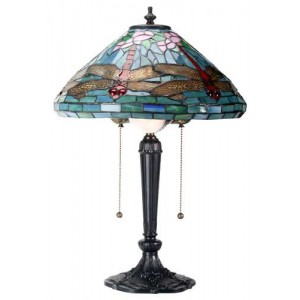Dragonfly Tiffany Reproduction Art Glass Lamp Majestic Dragonfly Home Decor, Artwork, Unique Decorations