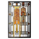 Autumn Sumac Frank Lloyd Wright Stained Glass Art at Majestic Dragonfly, Home Decor, Artwork, Unique Decorations