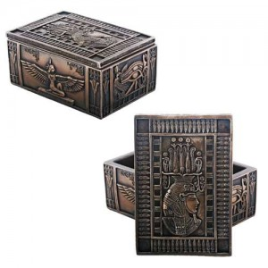Isis Bronze Resin Jewelry Box Majestic Dragonfly Home Decor, Artwork, Unique Decorations