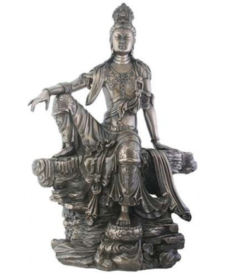 Kuan-Yin Water and Moon Goddess Statue at Majestic Dragonfly, Home Decor, Artwork, Unique Decorations