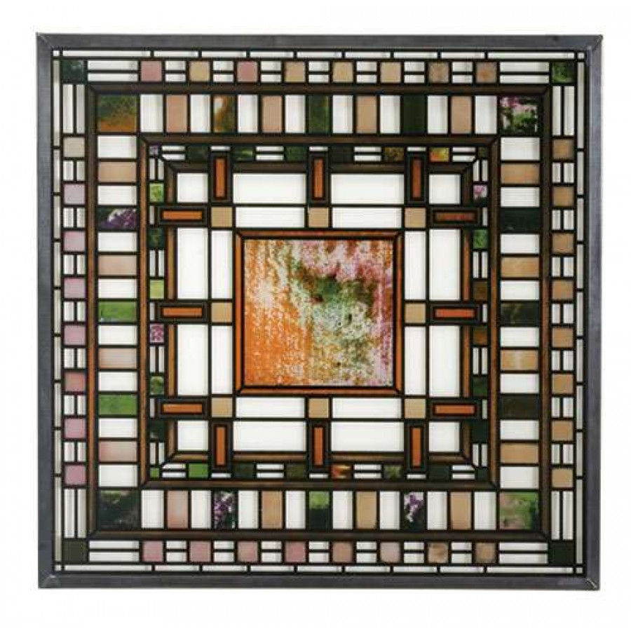 Frank Lloyd Wright DD Martin House Stained Glass Art At Majestic Dragonfly Home Decor