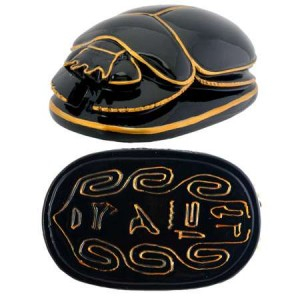 Black and Gold Egyptian Scarab Majestic Dragonfly Home Decor, Artwork, Unique Decorations