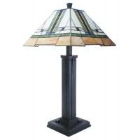 Mission Style Art Glass Table Lamp
