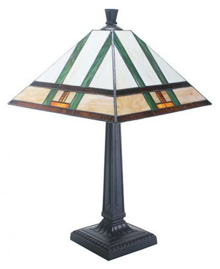 Mission Style Art Glass Table Lamp at Majestic Dragonfly, Home Decor, Artwork, Unique Decorations