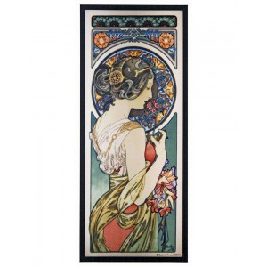 Primrose Alphonse Mucha Stained Glass Art Panel