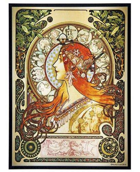 Zodiac Alphonse Mucha Stained Glass Art Panel at Majestic Dragonfly, Home Decor, Artwork, Unique Decorations