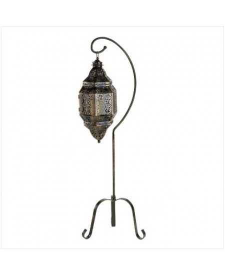 Moroccan Candle Lantern with Stand at Majestic Dragonfly, Home Decor, Artwork, Unique Decorations
