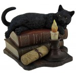 Witching Hour Black Cat Statue at Majestic Dragonfly, Home Decor, Artwork, Unique Decorations