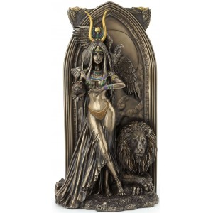 Priestess Egyptian Bronze Fantasy Art Statue Majestic Dragonfly Home Decor, Artwork, Unique Decorations