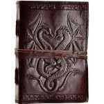 Double Dragon Leather Journal at Majestic Dragonfly, Home Decor, Artwork, Unique Decorations
