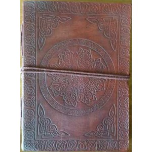 Celtic Mandala Leather Journal Majestic Dragonfly Home Decor, Artwork, Unique Decorations