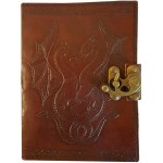 Double Dragon Leather Journal with Latch at Majestic Dragonfly, Home Decor, Artwork, Unique Decorations