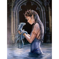 Water Dragon by Anne Stokes Canvas Art Print