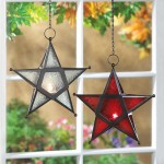 Star Hanging Lantern - Clear at Majestic Dragonfly, Home Decor, Artwork, Unique Decorations