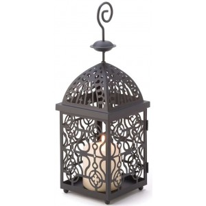 Moroccan Birdcage Candle Lantern Majestic Dragonfly Home Decor, Artwork, Unique Decorations
