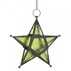 Star Hanging Lantern - Green Majestic Dragonfly Home Decor, Artwork, Unique Decorations